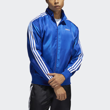 Men Originals Blue Satin Firebird Track Jacket