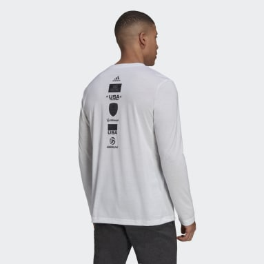 Volleyball White USA Volleyball Long Sleeve Tee