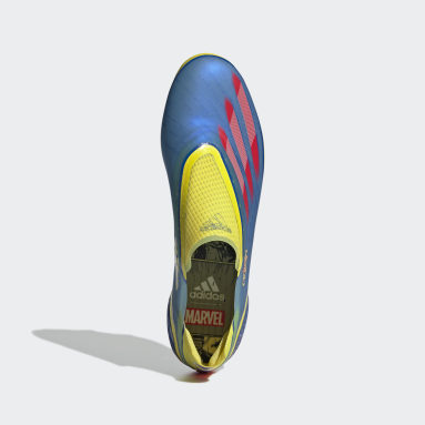 Scarpe da calcio Marvel X Ghosted+ Laceless Firm Ground Blu Calcio