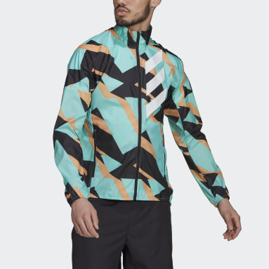 Men TERREX Green Terrex Parley Agravic WIND.RDY Windbreaker
