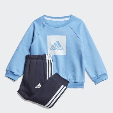Deti Tréning A Fitnes modrá Súprava 3-Stripes Fleece Jogger