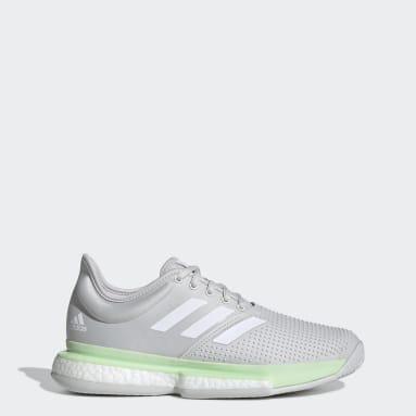 Women's Tennis Green SoleCourt Tennis Shoes