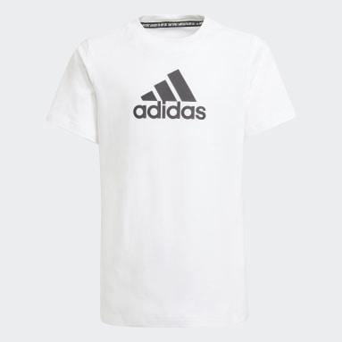 Boys Gym & Training White Logo Tee
