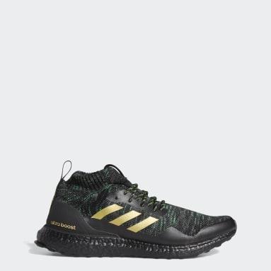 Men Running Black Ultraboost DNA x Von Miller Mid Shoes