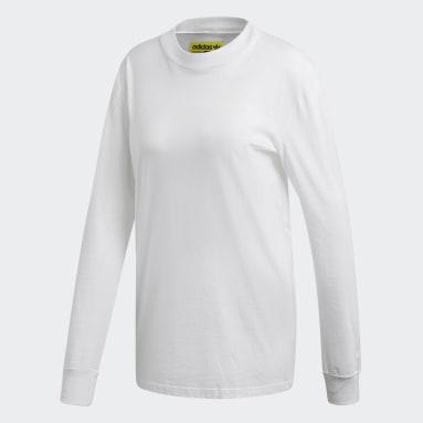 Kadın Originals Beyaz Kaval Uzun Kollu Üst