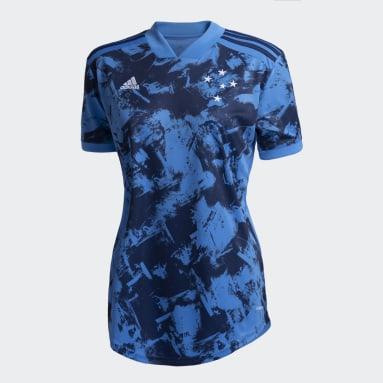 Camisa 3 Cruzeiro 20/21 Azul Mulher Futebol