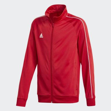 Kinder Fitness & Training Core 18 Jacke Rot