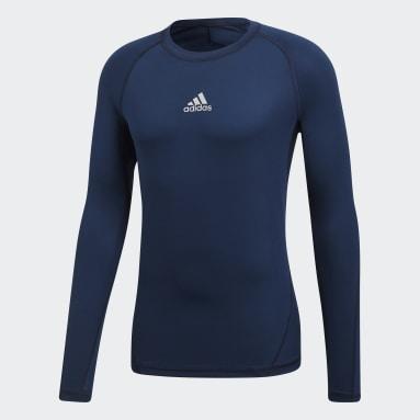 синий Лонгслив Alphaskin Sport