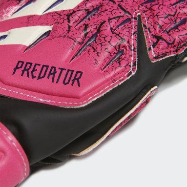 Děti Fotbal růžová Rukavice Predator Match Fingersave Goalkeeper