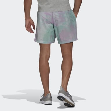 Men Essentials Turquoise Essentials Tie-Dyed Inspirational Shorts