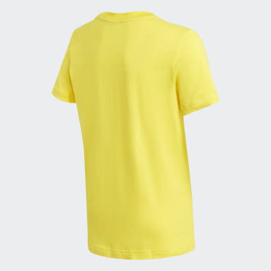 Youth 8-16 Years Gym & Training Yellow Logo T-Shirt