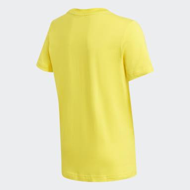 T-shirt Logo Giallo Ragazzo Fitness & Training