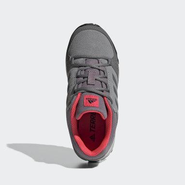 Kids TERREX Grey Terrex Hyperhiker Low Leather Hiking Shoes