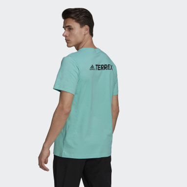 Men TERREX Green Terrex Graphic Rocklogo T-Shirt