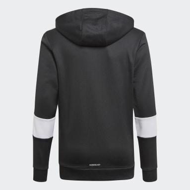 Veste à capuche AEROREADY3-Stripes Flow Primeblue Noir Garçons Fitness Et Training