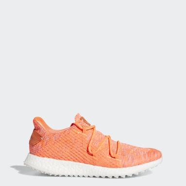 Women Golf Orange Crossknit DPR Golf Shoes