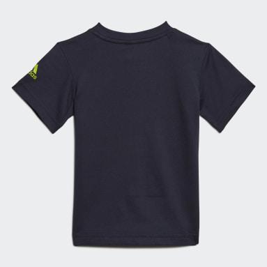 T-shirt Logo Bleu Enfants Fitness Et Training