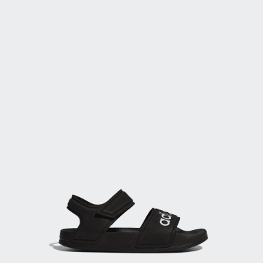 Kids Training Black Adilette Sandals