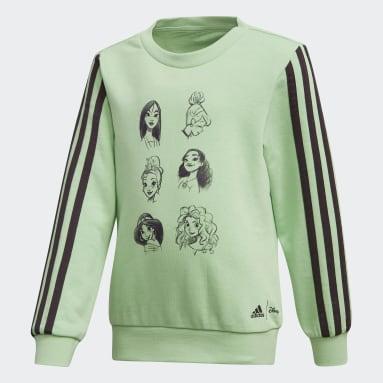 Blusa Moletom Disney Verde Meninas Training