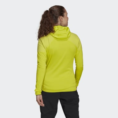 Dames TERREX Geel Terrex Skyclimb Fleece Windjack