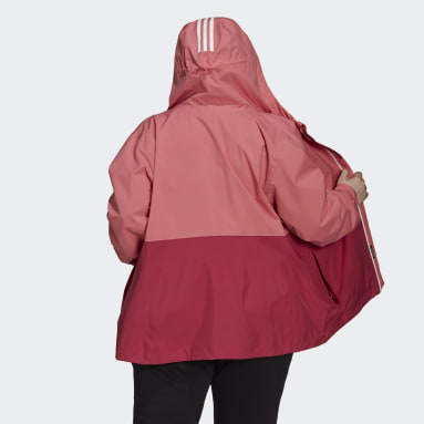 Dames City Outdoor Roze BSC 3-Stripes RAIN.RDY Jack