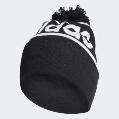 Bonnet en laine With Pompon noir Essentials