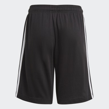 Youth 8-16 Years Sportswear Black adidas Essentials 3-Stripes Shorts