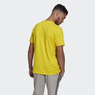 Men Sport Inspired Yellow Essentials Big Logo Tee