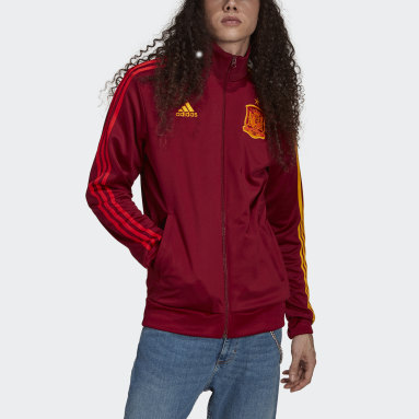 Herr Fotboll Burgundy Spain 3-Stripes Track Jacket