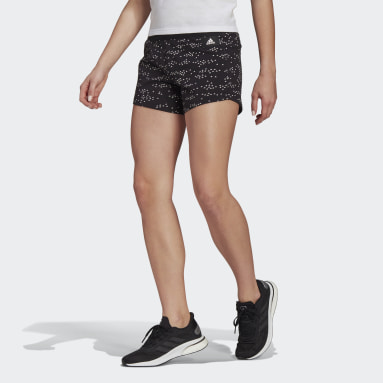 Frauen Sportswear adidas Sportswear Badge of Sport Allover-Print Shorts Schwarz
