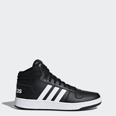 Essentials Black Hoops 2.0 Mid Shoes