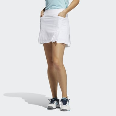Women Golf White Ultimate365 Primegreen Pleated Skirt