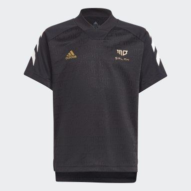 Youth Training Black Salah Football-Inspired Jersey