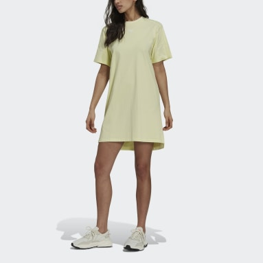Women Originals Yellow Tennis Luxe Tee Dress