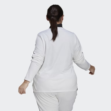 Women's Soccer White Tiro Track Jacket (Plus Size)
