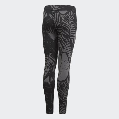 Youth Training Grey Future Icons Graphic Tights