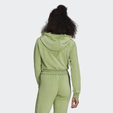 Women Originals Green LOUNGEWEAR adidas Full Zip Hoodie ​