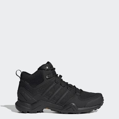 Erkek Outdoor Siyah Terrex Swift R2 Mid GORE-TEX Yürüyüş Ayakkabısı