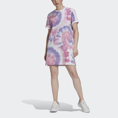 Women's Originals Multicolor Tie Dye T-Shirt Dress