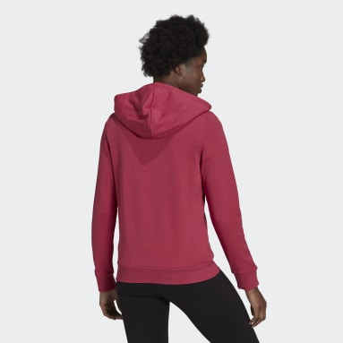 Essentials Logo Full-Zip Hoodie Różowy