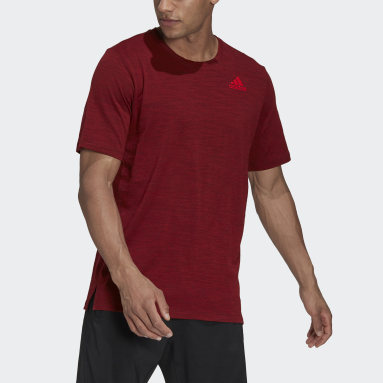 Men Gym & Training Red City Elevated Tee