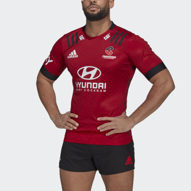 Men Rugby Red Crusaders Rugby Home Replica Jersey