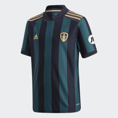 Camisola Alternativa 20/21 do Leeds United FC Azul Criança Futebol