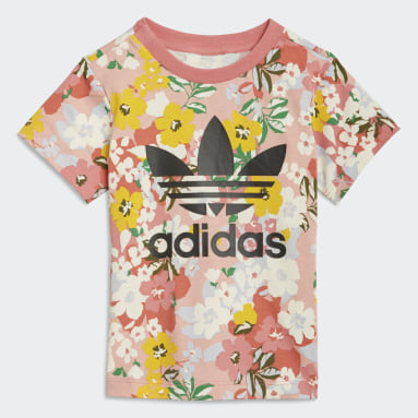 Girls Originals Pink HER Studio London Floral Tee