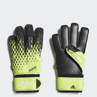Football Green Predator 20 Match Fingersave Goalkeeper Gloves