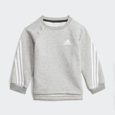 Kids Gym & Training Grey Future Icons 3-Stripes Jogger