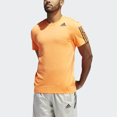 T-shirt Primeblue AEROREADY 3-Stripes Slim Arancione Uomo Fitness & Training