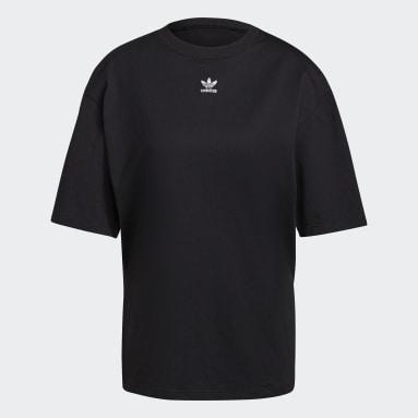 Women Originals Black LOUNGEWEAR Adicolor Essentials T-Shirt