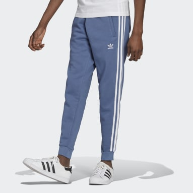Men Originals Blue Adicolor Classics 3-Stripes Pants