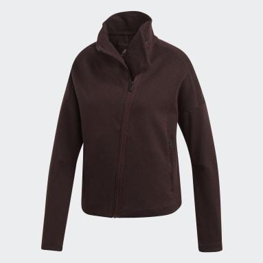 Women Sportswear Burgundy Heartracer Jacket Here to Create